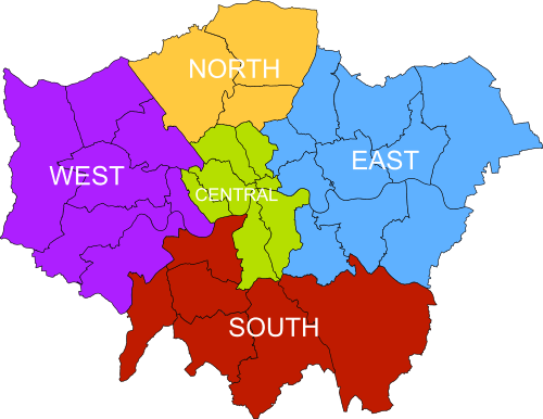 East London Rubbish Removal Map